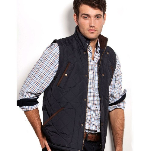 Vedoneire Quilted Gilet Navy