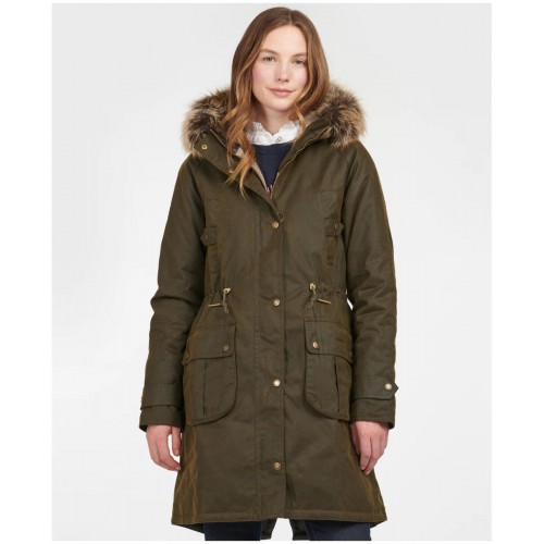 Barbour Hartwith Wax Parka Olive