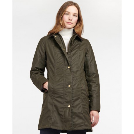 Barbour Womens Belsay Wax Jacket Olive