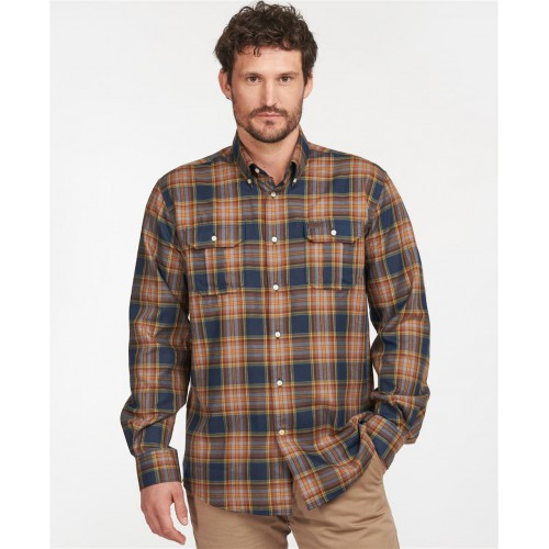 Barbour Singby Thermo Wave Shirt Navy