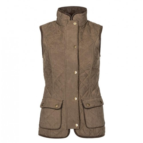 Baleno Scarlet Ladies Quilted Gilet Light Khaki