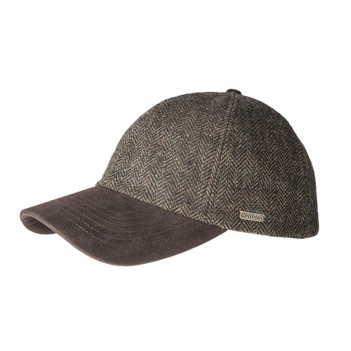 Hatland Pearcy Tweed Cap Brown