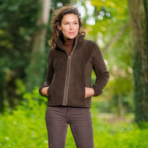 Baleno Sarah Fleece Jacket Chocolade bruin