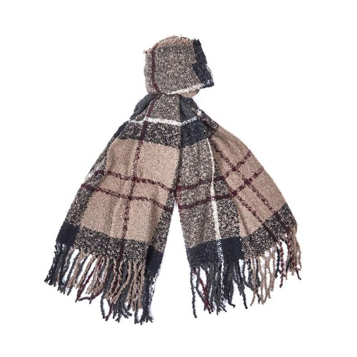 Barbour Shawl Boucle Winter Dress Tartan