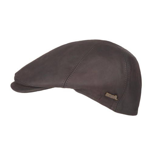 Hatland Flat Cap Maiko Leather