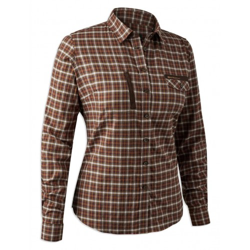 Deerhunter Lady Emily Shirt Stretch - Red Check