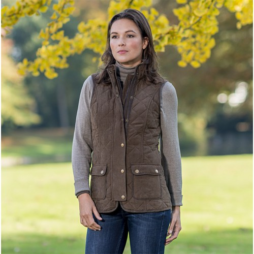 Baleno Scarlet Quilted Gilet Chocolate