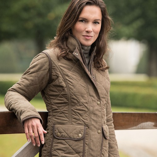 Baleno Hepburn Quilted Ladies Jacket khaki