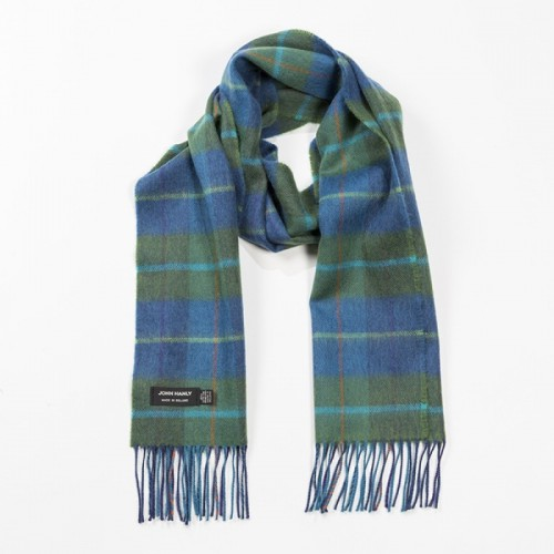 John Hanly Shawl Merino - Denim Green 175