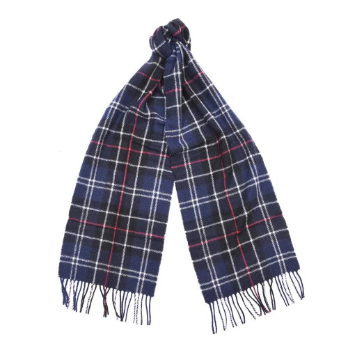 Barbour shawl lamswol Tartan Navy/Red