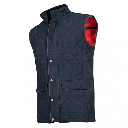 Baleno York Quilted Gilet Navy