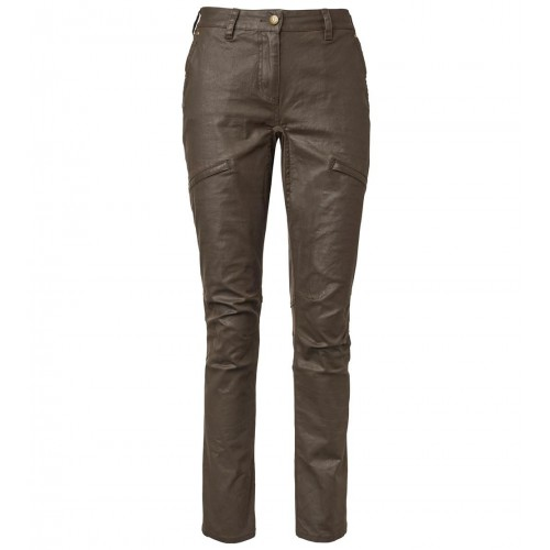 Chevalier Vintage Pants Women Leather Brown