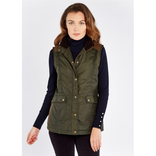Dubarry Pembroke Wax Gilet Pine