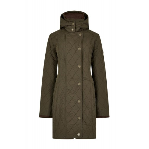 Dubarry Jamestown Quilted Jacket Lange Jas - Olive