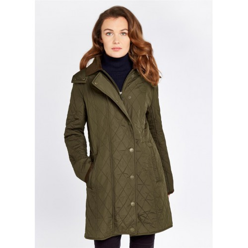 Dubarry Jamestown Quilted Lange Jas Olive