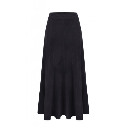 Anna Lascata Panel Skirt Navy Blue