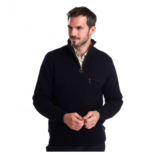 Barbour Ayton Half Zip Sweater Navy
