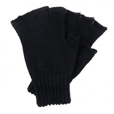 Barbour Fingerless Gloves Black