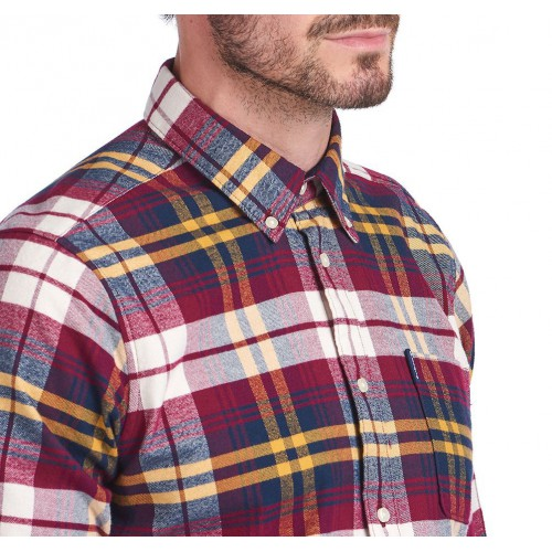 Barbour Highland Check 19 Tailored Fit Shirt - Red