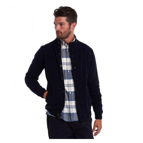 Barbour Patch Zip Thru Sweater Navy