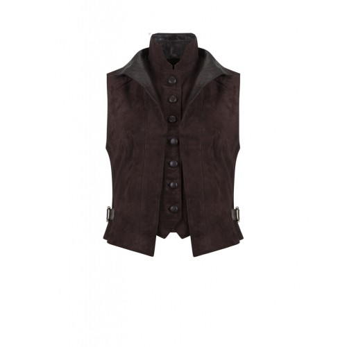 Anna Lascata Double Waistcoat Brown