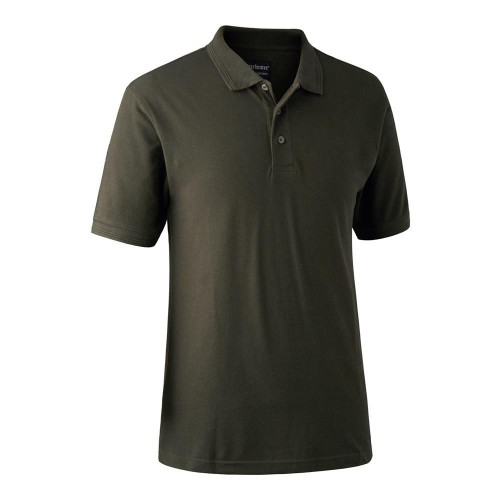 Deerhunter Redding Polo Shirt Bark Green
